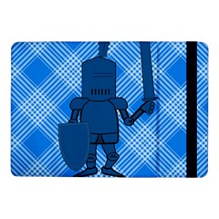 Blue Knight On Plaid Samsung Galaxy Tab Pro 10 1  Flip Case