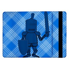 Blue Knight On Plaid Samsung Galaxy Tab Pro 12.2  Flip Case