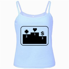 Preferences In Life Baby Blue Spaghetti Tank