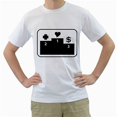 Preferences In Life Men s T-Shirt (White)