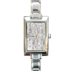 Abstract In Silver Rectangular Italian Charm Watch