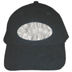 Abstract In Silver Black Baseball Cap