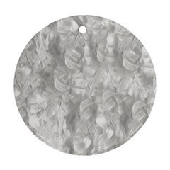 Abstract In Silver Round Ornament