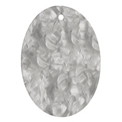 Abstract In Silver Oval Ornament