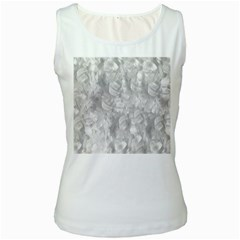 Abstract In Silver Women s Tank Top (white)