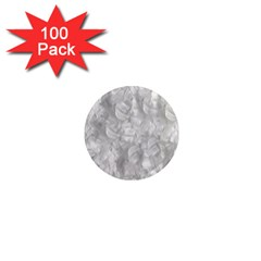 Abstract In Silver 1  Mini Button Magnet (100 Pack)