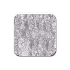 Abstract In Silver Drink Coaster (square)
