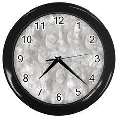 Abstract In Silver Wall Clock (black)