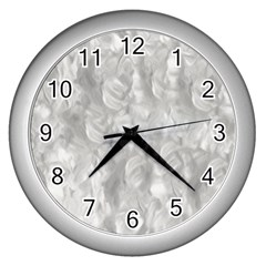 Abstract In Silver Wall Clock (Silver)