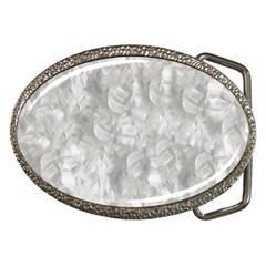 Abstract In Silver Belt Buckle (Oval)