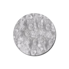 Abstract In Silver Drink Coaster (Round)
