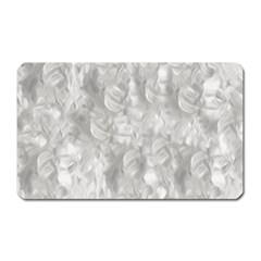 Abstract In Silver Magnet (Rectangular)