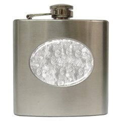 Abstract In Silver Hip Flask