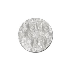 Abstract In Silver Golf Ball Marker 4 Pack
