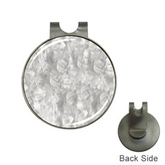Abstract In Silver Hat Clip With Golf Ball Marker
