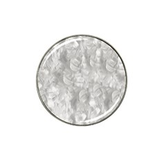 Abstract In Silver Golf Ball Marker (for Hat Clip)