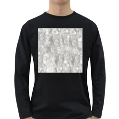 Abstract In Silver Men s Long Sleeve T-shirt (Dark Colored)