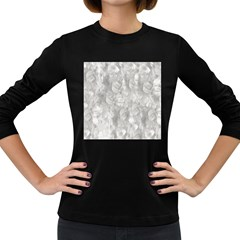 Abstract In Silver Women s Long Sleeve T-shirt (Dark Colored)