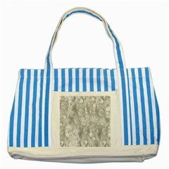 Abstract In Silver Blue Striped Tote Bag