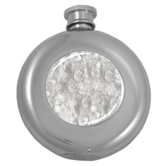 Abstract In Silver Hip Flask (Round)