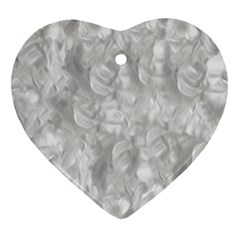 Abstract In Silver Heart Ornament (Two Sides)