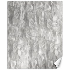 Abstract In Silver Canvas 16  x 20  (Unframed)