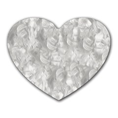 Abstract In Silver Mouse Pad (heart)