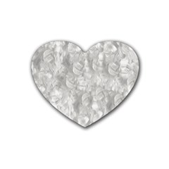 Abstract In Silver Drink Coasters 4 Pack (Heart)