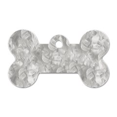 Abstract In Silver Dog Tag Bone (One Sided)
