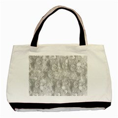 Abstract In Silver Twin-sided Black Tote Bag