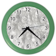 Abstract In Silver Wall Clock (color)