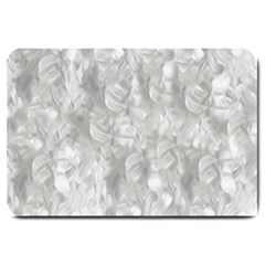 Abstract In Silver Large Door Mat