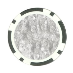 Abstract In Silver Poker Chip (10 Pack)