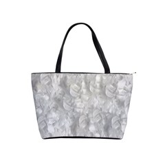 Abstract In Silver Large Shoulder Bag