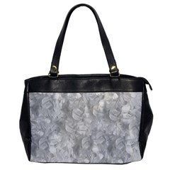 Abstract In Silver Oversize Office Handbag (one Side)