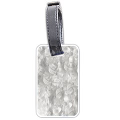 Abstract In Silver Luggage Tag (One Side)