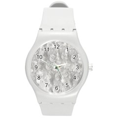 Abstract In Silver Plastic Sport Watch (medium)