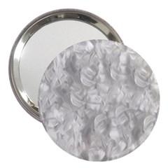 Abstract In Silver 3  Handbag Mirror