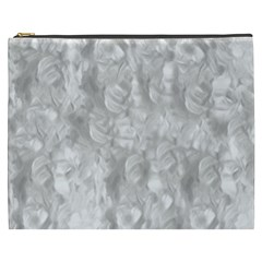 Abstract In Silver Cosmetic Bag (xxxl)