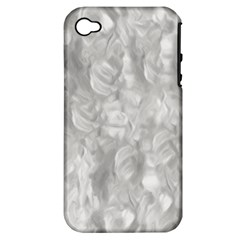 Abstract In Silver Apple Iphone 4/4s Hardshell Case (pc+silicone)