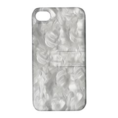 Abstract In Silver Apple Iphone 4/4s Hardshell Case With Stand