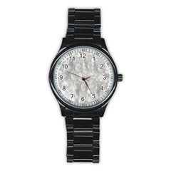 Abstract In Silver Sport Metal Watch (Black)