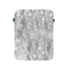 Abstract In Silver Apple Ipad Protective Sleeve