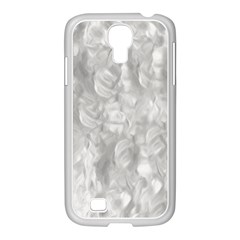 Abstract In Silver Samsung GALAXY S4 I9500/ I9505 Case (White)