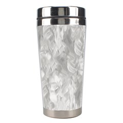 Abstract In Silver Stainless Steel Travel Tumbler