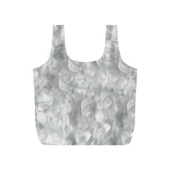 Abstract In Silver Reusable Bag (S)