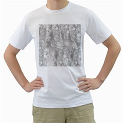 Abstract In Silver Men s T-Shirt (White)