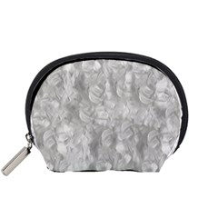 Abstract In Silver Accessory Pouch (small)