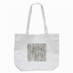 Abstract In Silver Tote Bag (white)