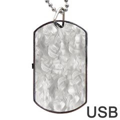 Abstract in Silver Dog Tag USB Flash (Two Sides)